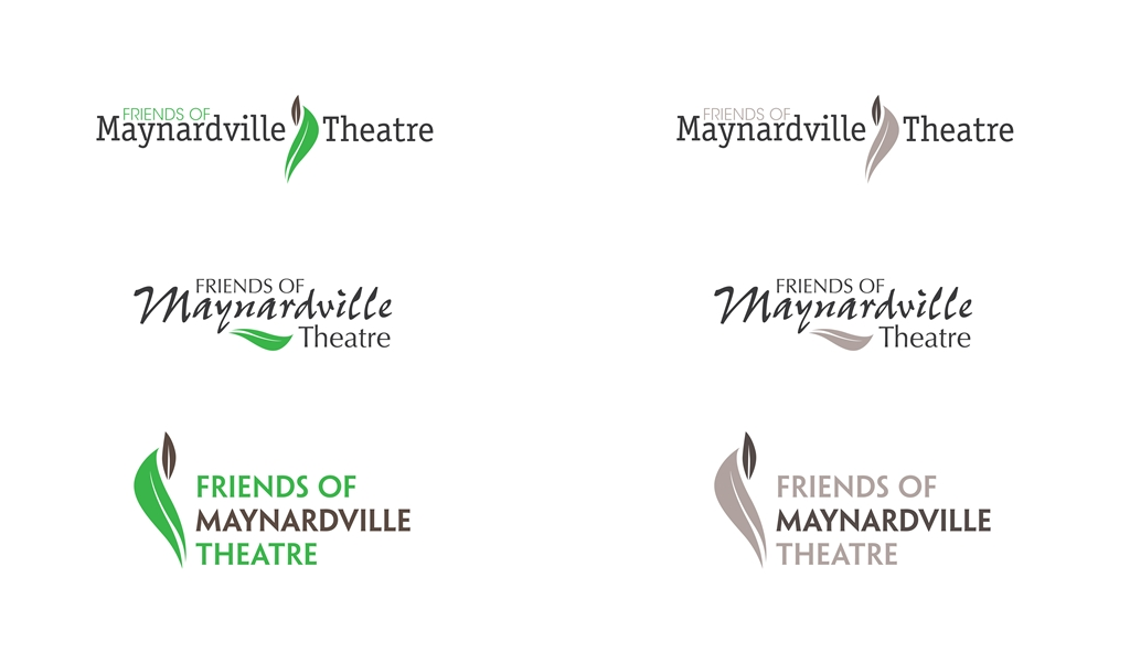 Logo variations for a theatre-group - showing font options for the design