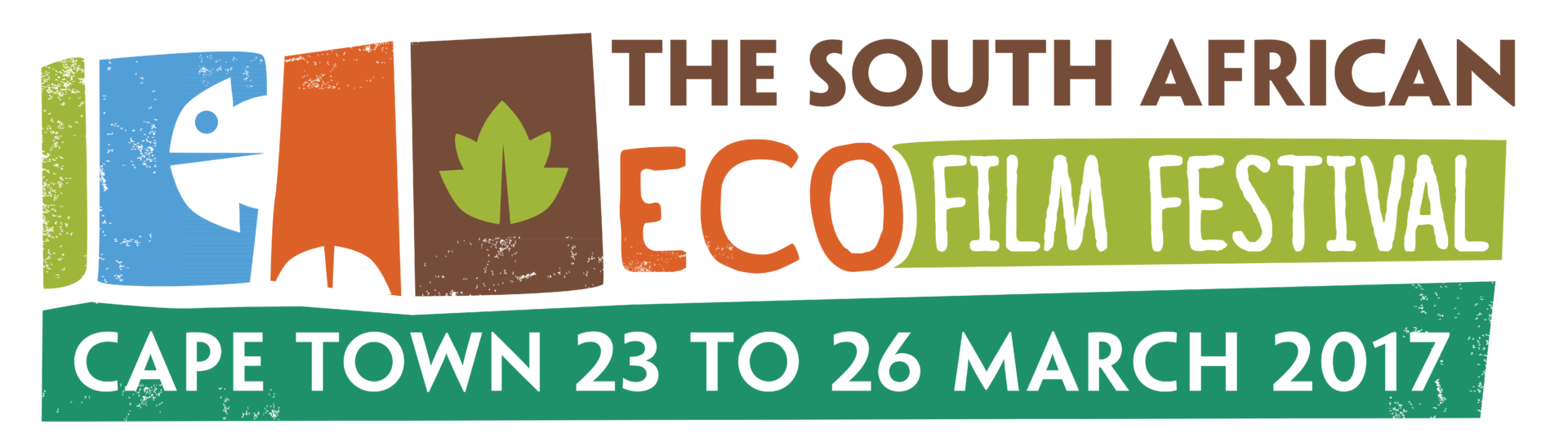 Variation of the logo design created for the Eco Film festival to serve as a banner for web use