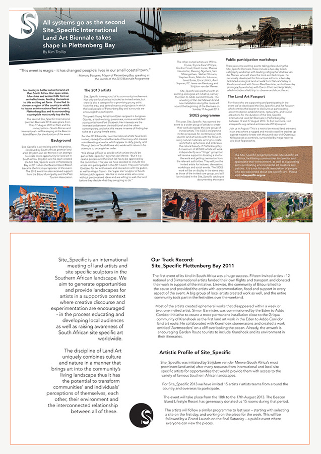 Layout of article pages, with skew paragraph lines to emphasize the contemporary nature of the event