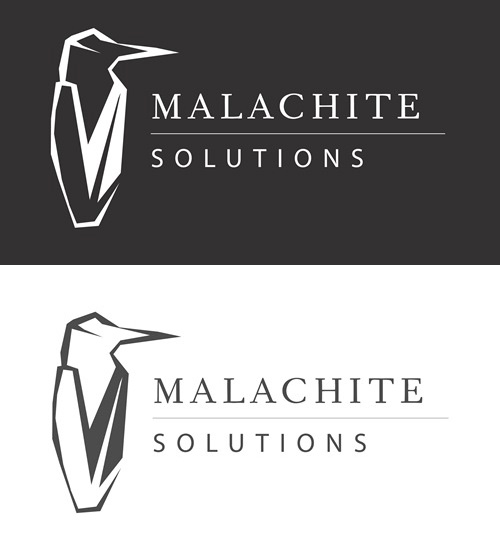 Logo design for South African business consulting company Malachite Solutions - a professional, clean logo to inspire trust